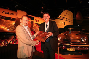 Receiving the Heritage Award